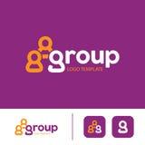 Modello di logo del gruppo Fotografie Stock