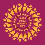 Modello di logo del lavoro di gruppo di eccellenza della gente illustrazione vettoriale