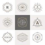 Modello di logo del monogramma illustrazione di stock