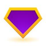 Modello di logo del supereroe Fotografie Stock Libere da Diritti