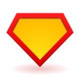 Modello di logo del supereroe Immagine Stock