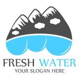 Modello di logo dell'acqua dolce Fotografia Stock