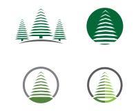Modello di logo dell'albero di cedro royalty illustrazione gratis