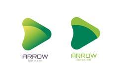 Modello di logo dell'estratto della freccia di vettore Sulla freccia Fotografie Stock Libere da Diritti
