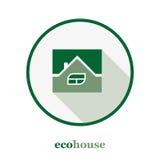 Modello di logo della casa di Eco Immagine Stock