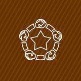 Modello di logo della Comunità con le mani Fotografia Stock Libera da Diritti