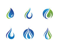 Modello di logo della gocciolina di acqua Fotografia Stock Libera da Diritti