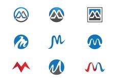modello di logo della lettera di m. Immagine Stock Libera da Diritti
