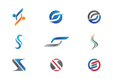 Modello di logo della lettera di S Fotografia Stock