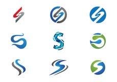 Modello di logo della lettera di S Fotografie Stock