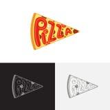 Modello di logo della pizza Fotografie Stock Libere da Diritti