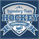 Modello di logo della squadra di hockey Emblema, logotype Fotografie Stock Libere da Diritti