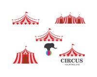 Modello di logo della tenda di circo Vettore illustrazione di stock