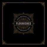 Modello di logo di Flourishes Fotografia Stock Libera da Diritti