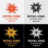 Modello di logo di Lion King Fotografia Stock Libera da Diritti