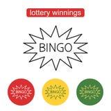 Modello di logo di lotteria del lotto di bingo Fotografia Stock
