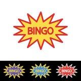 Modello di logo di lotteria del lotto di bingo Fotografie Stock Libere da Diritti