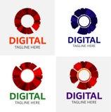 Modello di logo di media di Digital Fotografia Stock