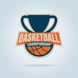 Modello di logo di pallacanestro Immagini Stock