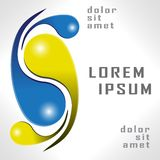 Modello di logo di vettore di progettazione Fotografia Stock Libera da Diritti