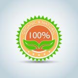 ` modello di logo di Eco del ` del prodotto organico & naturale di 100%, bio- etichetta con retro progettazione d'annata Illustra Fotografie Stock Libere da Diritti