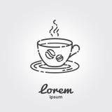 Modello di logo - tazza di caffè Immagine Stock