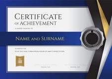 Modello di lusso del certificato con la struttura dorata elegante del confine, Di royalty illustrazione gratis