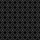 Modello di lusso senza cuciture della zampa del cane con le corone Stampa in bianco e nero Illustrazione di vettore Fotografia Stock Libera da Diritti