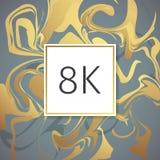 Modello di marmo di progettazione di ringraziamenti di vettore dell'oro per gli amici ed i seguaci della rete Grazie una carta di Fotografia Stock