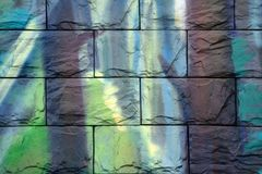 Modello di marmo porpora molto bello Carta da parati di astrattismo Arte ed oro Carta turca di Ebru- Lusso naturale Pittura di go fotografie stock