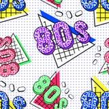Modello di Memphis 80s illustrazione di stock