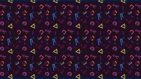 Modello di Memphis di vario multicolore illustrazione vettoriale