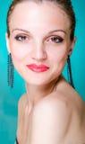 Modello di moda del ritratto di bellezza Immagini Stock Libere da Diritti
