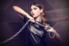 Modello di moda di fascino. Fotografia Stock Libera da Diritti