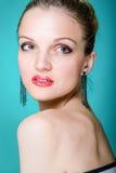 Modello di moda sexy del ritratto Fotografia Stock