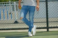 Modello di moda, uomini, jeans Immagini Stock