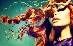 Modello di moda Woman Portrait fotografie stock libere da diritti