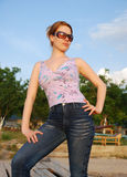 Modello di modo Fotografie Stock