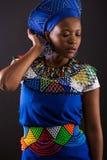 Modello di modo africano Fotografie Stock Libere da Diritti