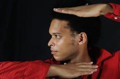 Modello di modo africano maschio Fotografia Stock Libera da Diritti