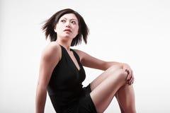 Modello di modo di seduta Fotografie Stock