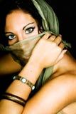 Modello di modo femminile dell'nativo americano Fotografie Stock Libere da Diritti