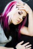 Modello di modo gotico punk Fotografia Stock Libera da Diritti