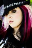 Modello di modo gotico punk Fotografie Stock Libere da Diritti