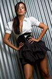 Modello di modo latino Fotografia Stock