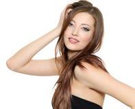 Modello di modo sexy con capelli lunghi Immagine Stock
