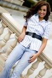 Modello di modo teenager casuale Fotografie Stock Libere da Diritti