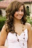 Modello di modo teenager del brunette Immagine Stock Libera da Diritti