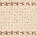Modello di mosaico beige della piastrella di ceramica Fotografia Stock Libera da Diritti