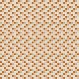 Modello di mosaico beige e marrone della piastrella di ceramica Fotografia Stock